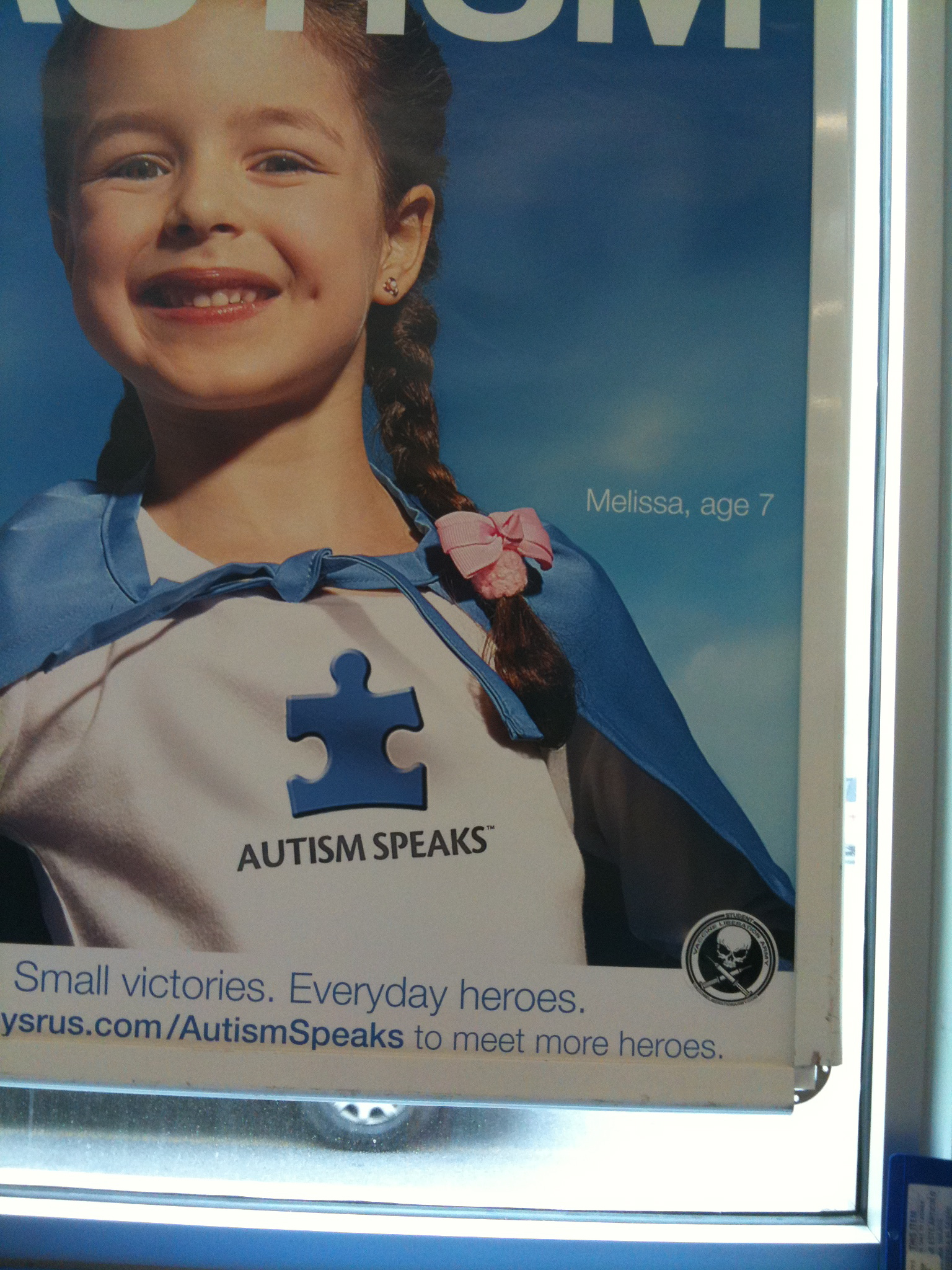 VLA enhances Autism Speaks Posters Toys R Us Babies R Us